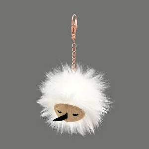 Snugglebuds Coconut Puffball echidna plush squishy keychain