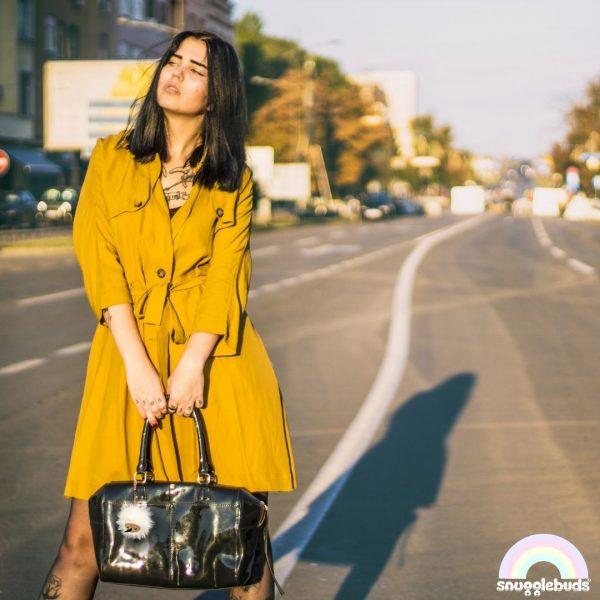 Coco keychain yellow coat