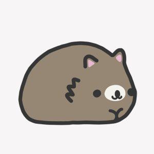 Snugglebuds Pudding wombat illustration